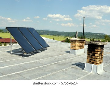 Solar panels on high building