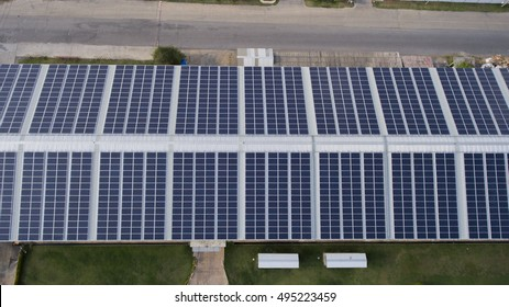 Solar panels on houses' rooftop