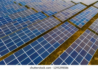 Solar panels on the lawn
