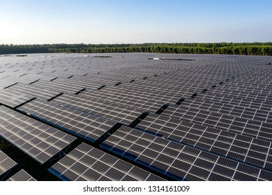 the Solar panels on the lawn