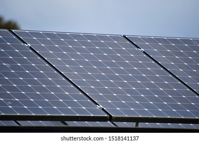Solar panels on a north facing roof in Australia