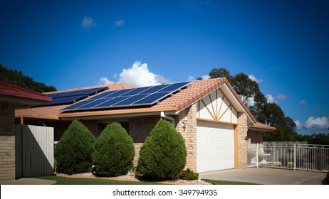 Solar panels on the roof, Australia