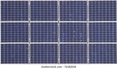Solar panels on the roof of a city farm in The Hague, Holland