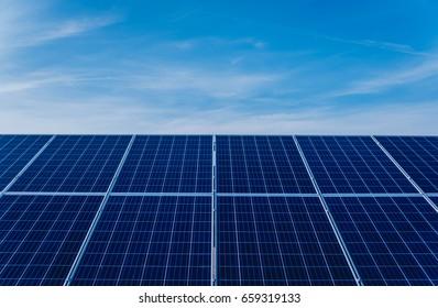 Solar panels, photovoltaic, alternative electricity source. Background