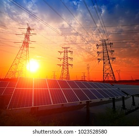 Solar panels and pylon
