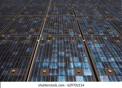 Solar panels in St. Moritz, Switzerland