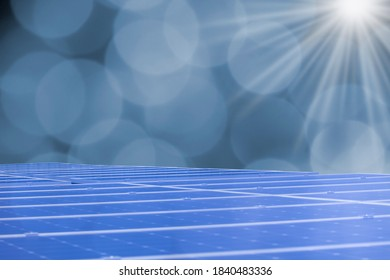 Solar Panels With Sun background image.