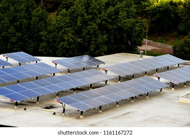Solar panels for sunlight collection