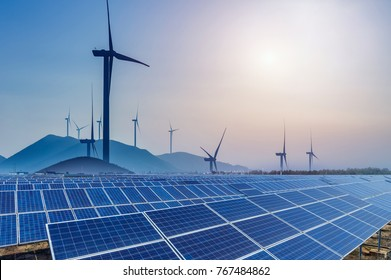 Solar panels and wind power generation equipment