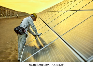 In the solar photovoltaic inspection engineer