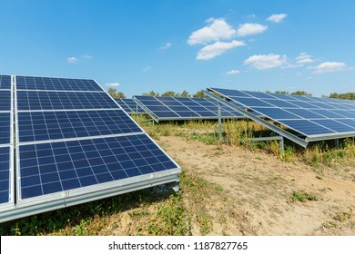 Solar photovoltaic modules using renewable solar energy. Alternative  electricity concept