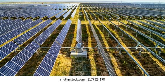 Solar photovoltaic rotating shaft in the sun
