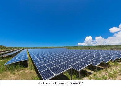 Solar power and blue sky