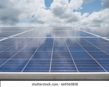 Solar power farm, the alternative clean energy for the future. Lower greenhouse gas (GHG) emission for the better world.