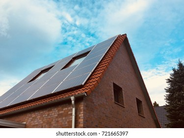 Solar power Generation technologie on roof