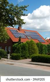 Solar power on a roof