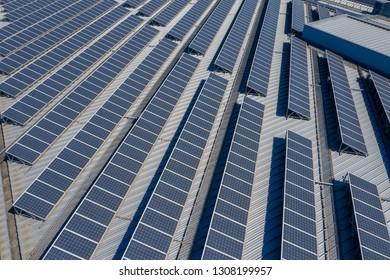 Solar power panel under sunlight