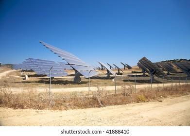 solar power panels at vejer in cadiz spain