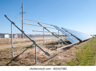solar power plant in construction