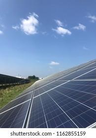 Solar Power Plant On a Sunny Day