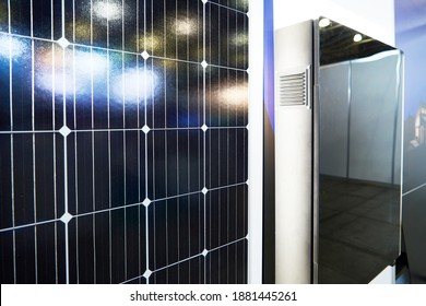 Solar power plant: panels and energy storage