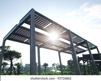 Solar power plant in park
