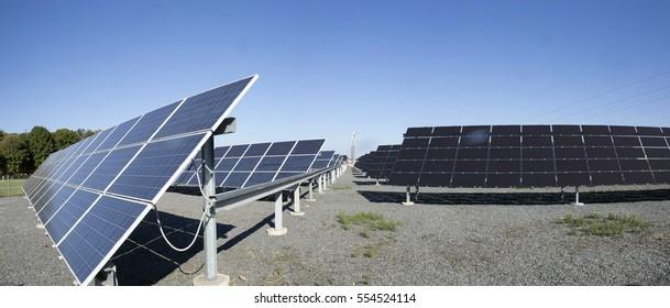 Solar power plant. Wind generators.Alternative energy.