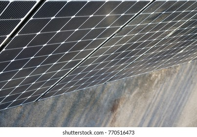 solar power plants, photovoltaic panels arranged in a variety of scenes.Power plant using renewable solar energy with sun
