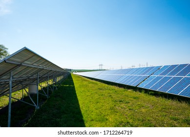 Solar Power Station (Fotovoltaic station) on the field in  Europe