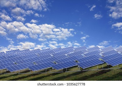 Solar power station on a hill - clean solution