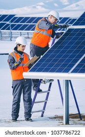 solar power station worker