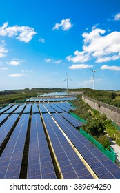 Solar power and wind power generation