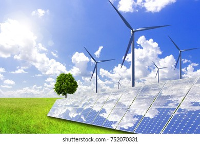 Solar power and wind power to solve future energy shortages