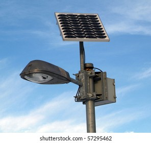 Solar lamp post lights images stock photos vectors shutterstock solar powered lamp post with blue sky aloadofball Images