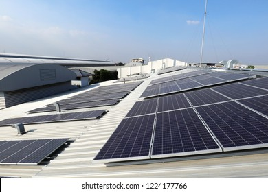 Solar PV on Industrial Roof with Exhaust Duct Chimneys