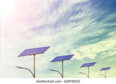 With the solar street light