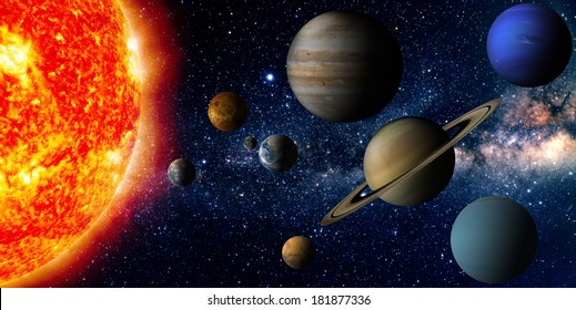 Solar system (Elements of this image furnished by NASA)
