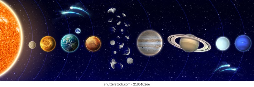 The Solar System - Elements of This Image Furnished By NASA