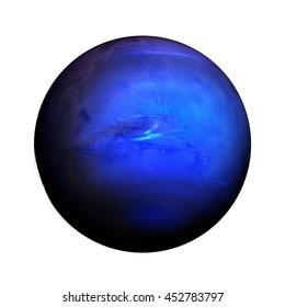 Sistema solar - Neptuno. Planeta aislado sobre fondo blanco. Elementos de esta imagen proporcionados por la NASA