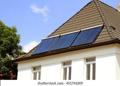 Solar system on the house roof