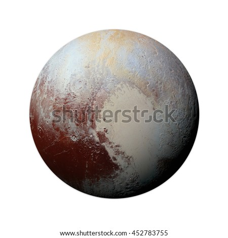 Solar System Pluto Isolated
