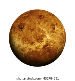 Solar System - Venus. Isolated planet on white background. Elements of this image furnished by NASA