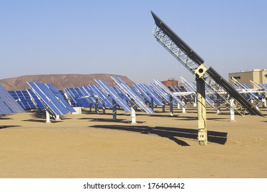 Solar Two panels at South California Edison Plant in Barstow, CA