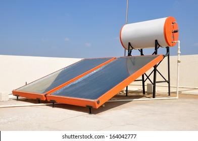 Solar Water Heater in Bengaluru, India.