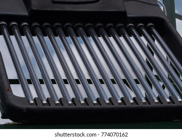 Solar water heating tubes up close