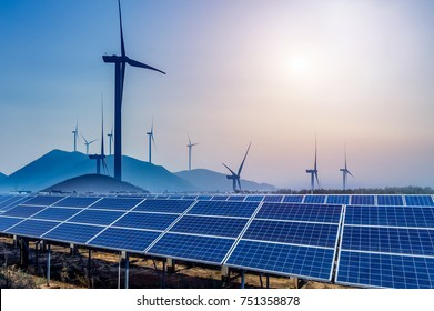 Solar and wind power, clean energy - Shutterstock ID 751358878
