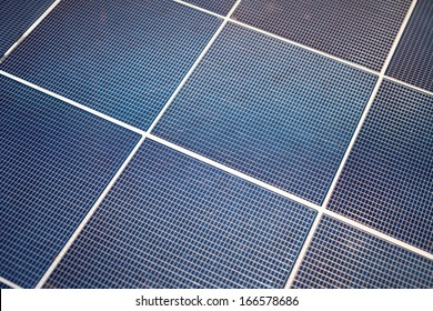 solar-cell panel for background