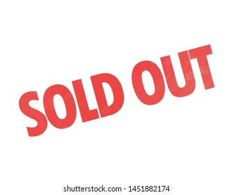 sold out sign icon vector