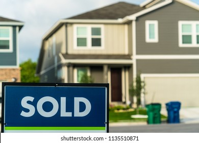 Sold. Real estate housing market. Homes and houses for sale in Austin , Texas , USA as the housing market grows worries of a bubble pop is coming. Rising living expenses and housing cost going up
