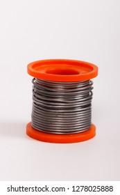 solder wire, orange wire spool